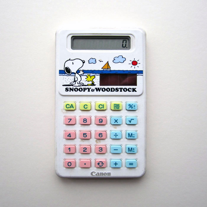 Canon solar powered calculator