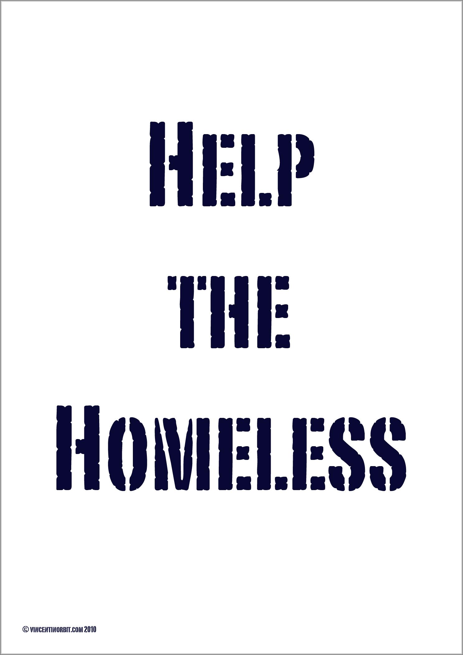 Help The Homeless Poster 171 ʇıqɹouıʇuǝɔuıʌ